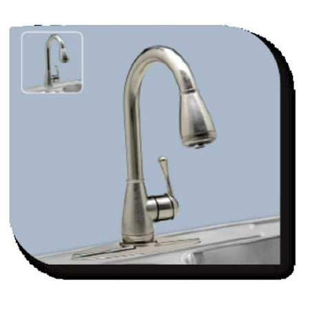 Riverstone Industries CleanFLO M-816S Melody Pull Down Kitchen Faucet -  Stainless Steel