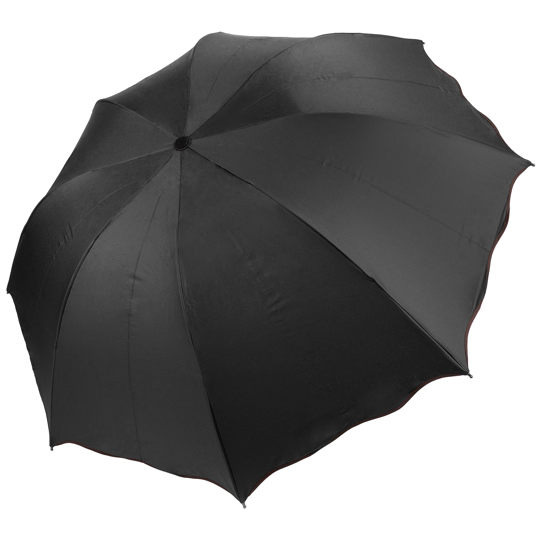 Blue Aerusi Polyester Beige Trim Automatic 8 Framed Travel Long Umbrella