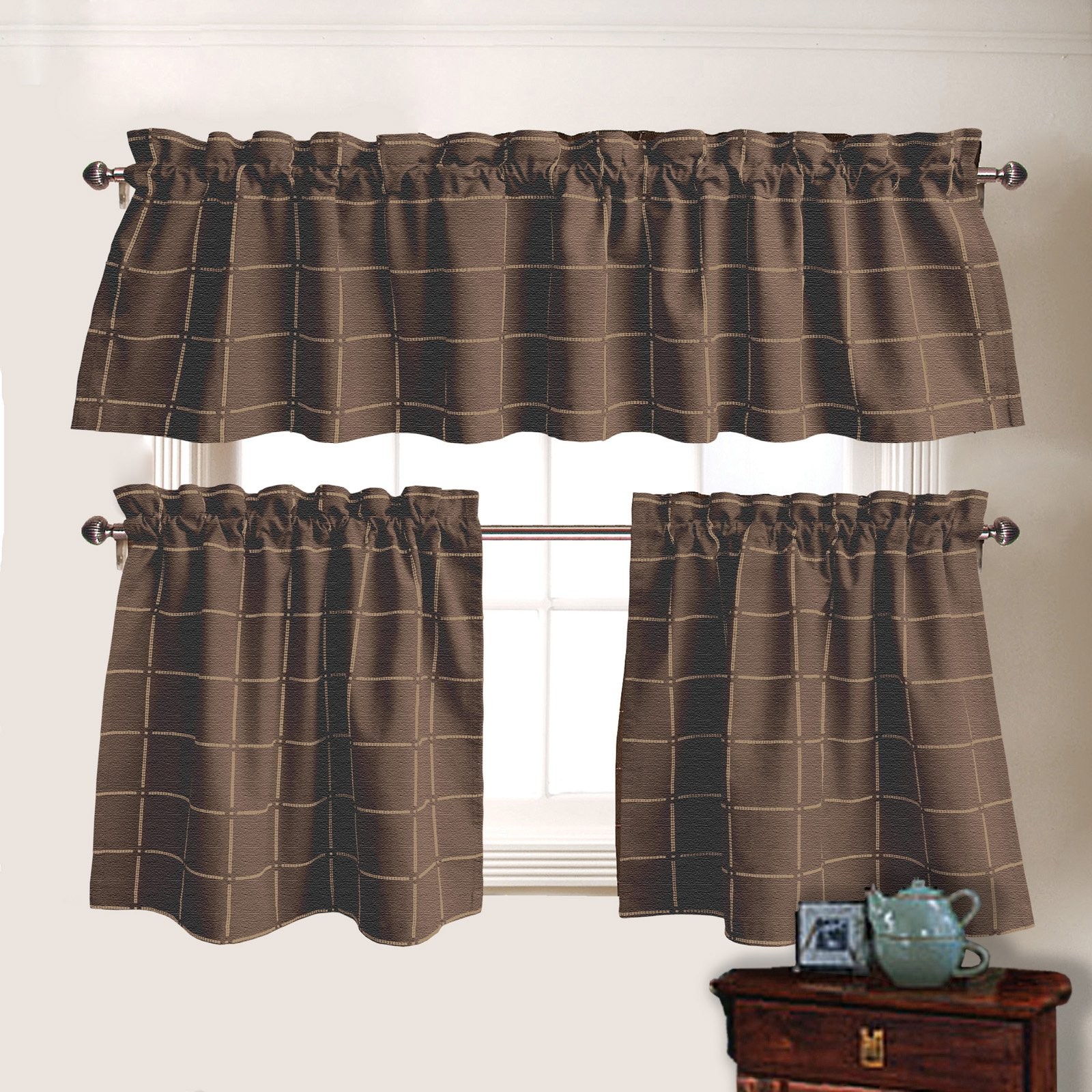 Park B. Smith Durham Square Chambray Valance
