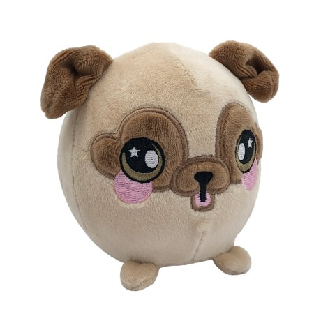 Black Pug Stuffed Animal (Squeezamals, Bryce Pug, 3.5