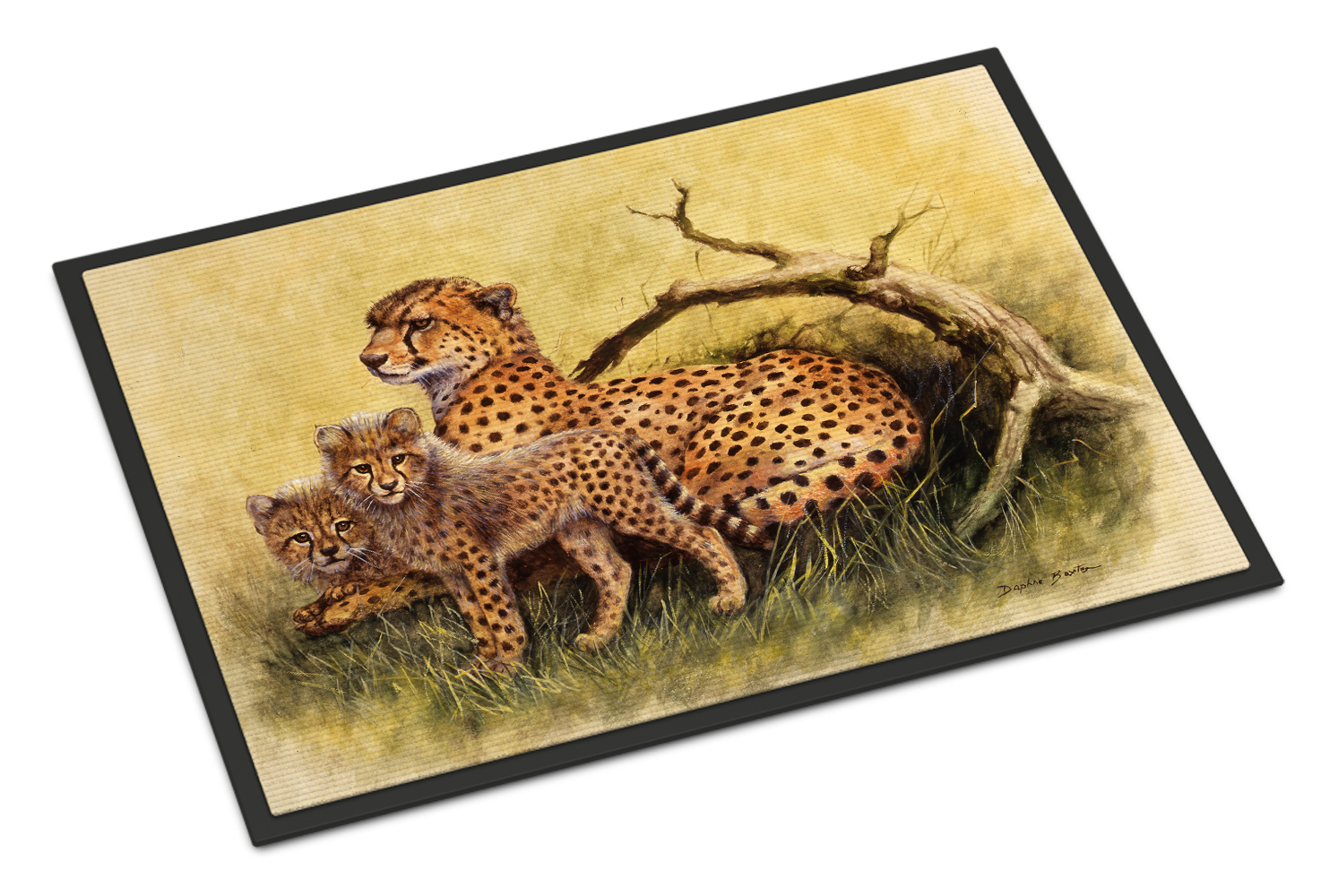 CHeetahs by Daphne Baxter Doormat by Caroline's Treasures