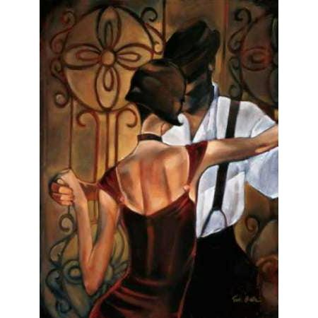 Evening Tango Rolled Canvas Art - Trish Biddle (9 x 12)