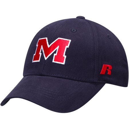 Ole Miss Rebels Russell Endless Adjustable Hat - Navy - OSFA (Ole Miss Rebels Dog)