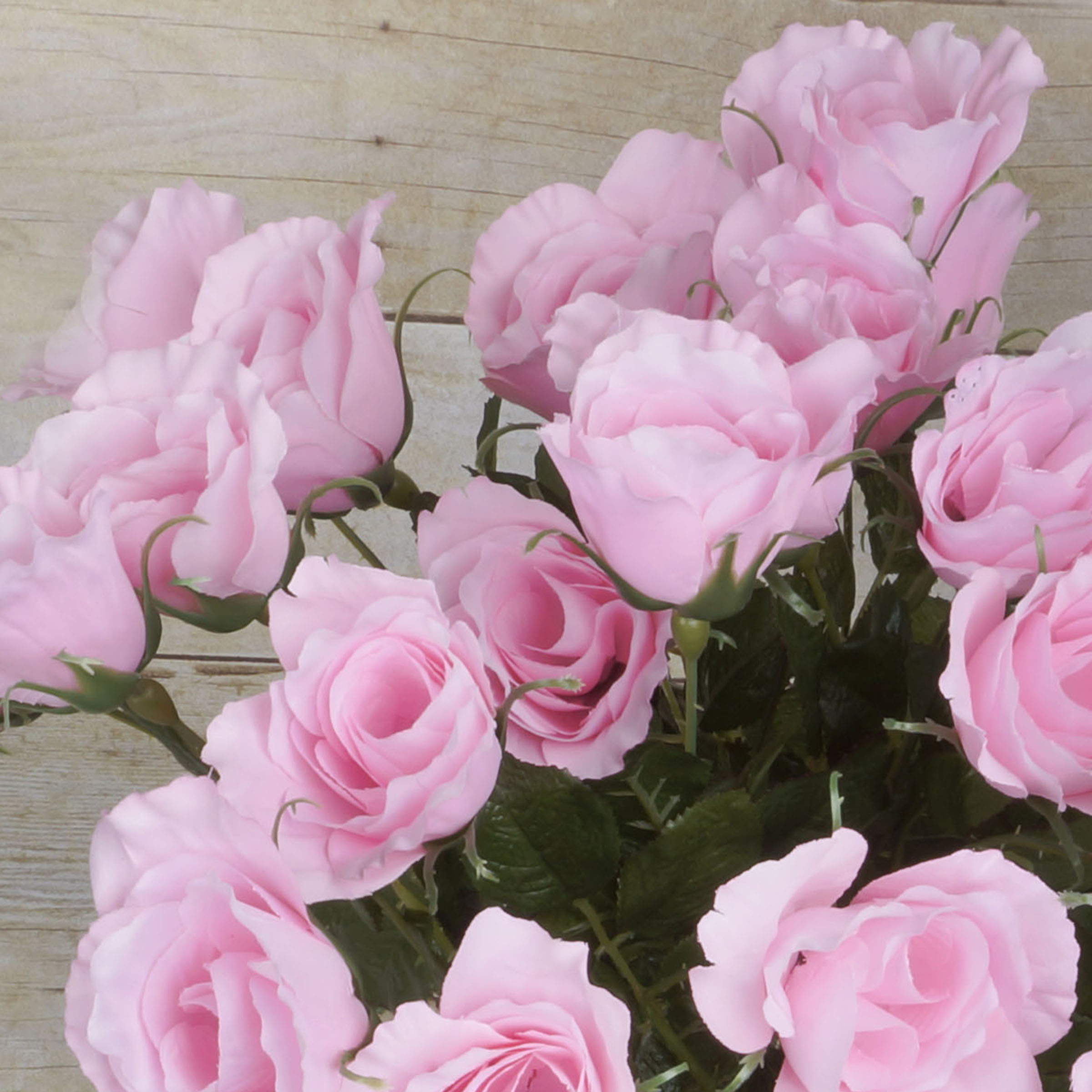 Efavormart 48 Pcs Long Single Stem Rose Bundles Wedding Artificial