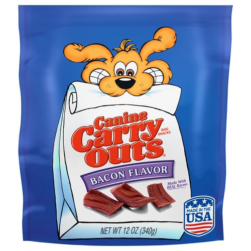 Canine Carry Outs Bacon Flavor Dog Snacks, 12 ounces