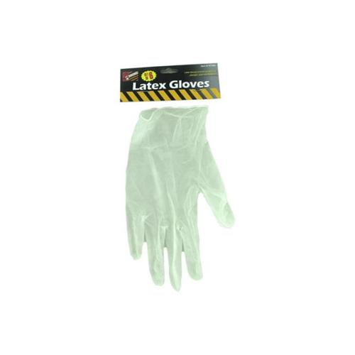 Bulk Buys HT382-24 7'' x 7'' x 7'' 6 Piece Latex Gloves - Pack of 24