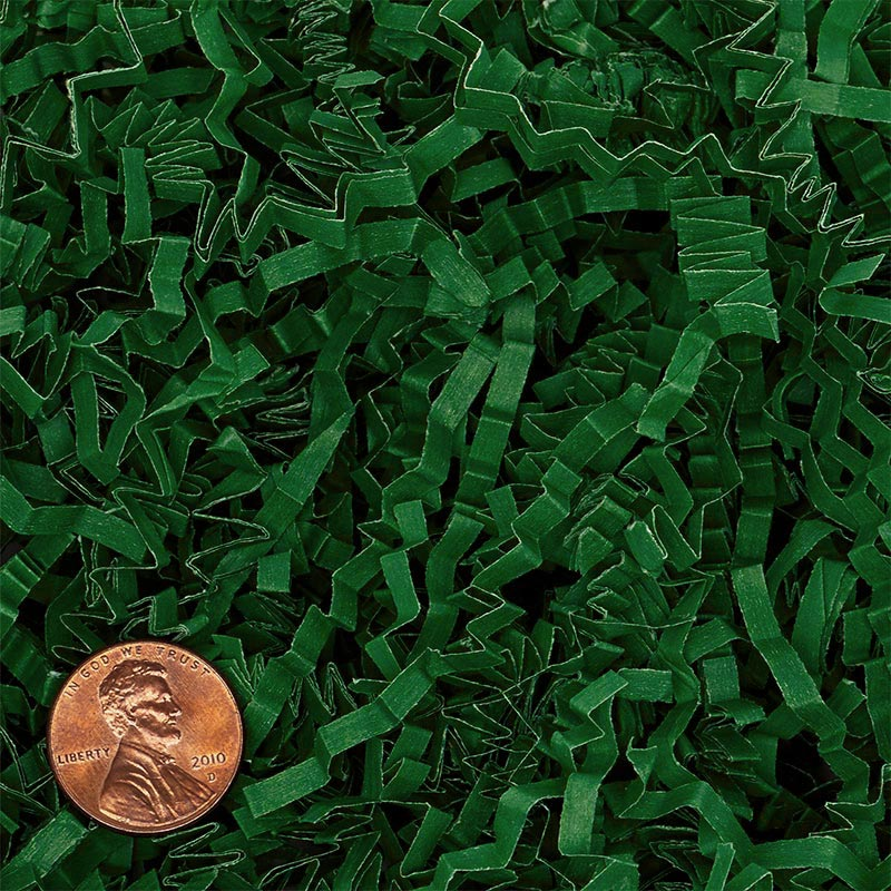 Green Crinkle Paper by CRINKLE CUT by Paper Mart