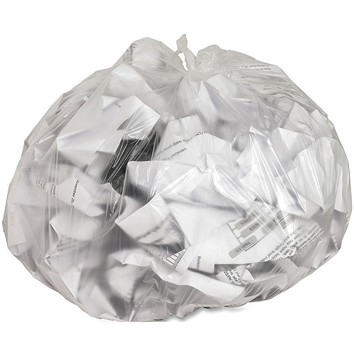 Genuine Joe High Density Trash Bags, Clear, 10 gal, 1000 count
