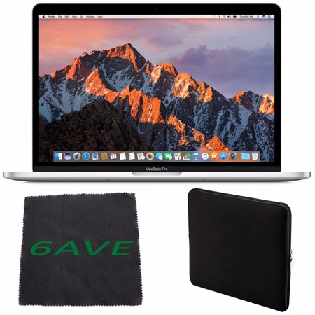 Apple MacBook Pro MNQG2LL/A 13-inch Laptop with Touch Bar (2.9GHz dual-core Intel Core i5, 512GB Retina Display), Silver Spanish Keybord + Padded Case For Macbook + MicroFiber Cloth Bundle