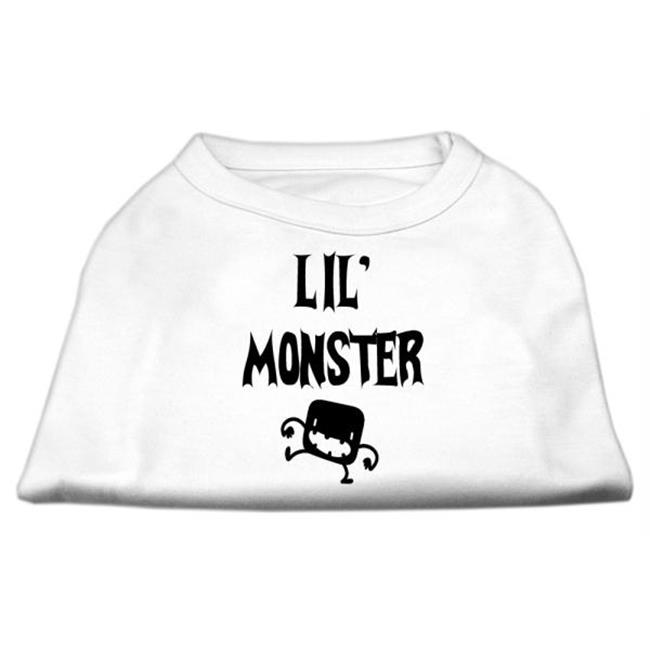 Mirage Pet Products 51-13-02 MDWT Lil Monster Screen Print Shirts White Med - 12 - image 1 de 1