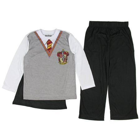 Boy's Harry Potter Hogwarts Uniform Pajama Sleep Set with Cape (Big Boys & Little Boys) (Cape Robe)