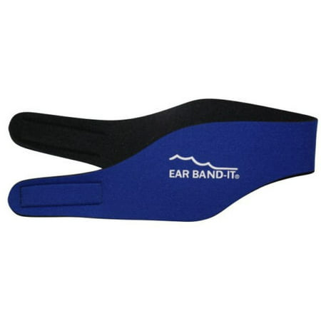 Blue Uncorded Ear Plug - Kid or Adult Ear Band-It Head Band w/Ear Plugs, Blue, Large