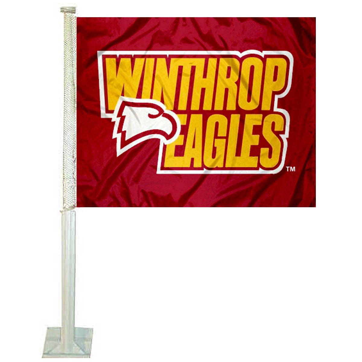 "Winthrop University 12"" x 15"" Car Flag"