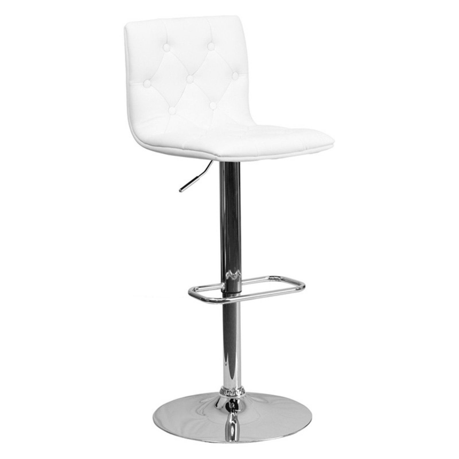 Admirable Flash Furniture Contemporary Tufted Vinyl Adjustable Height Barstool With Chrome Base Multiple Colors Pdpeps Interior Chair Design Pdpepsorg