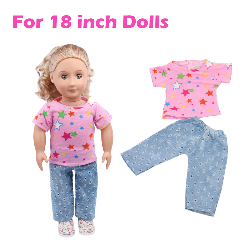 Mosunx Summer Clothes Suit For 18 Inch American Girl Doll Accessory Girl's Toy