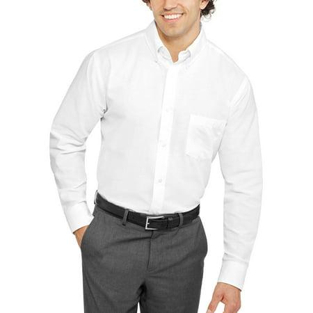 George big men 39 s long sleeve oxford shirt for Mens oxford dress shirts