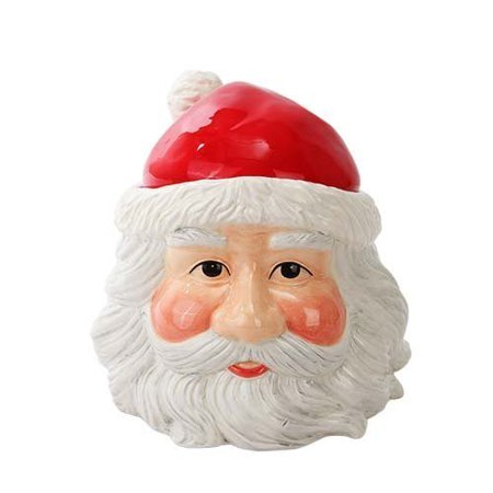 Pacific Trading Christmas Santa Cookie Jar Ceramic Cute Kitchen Accessory