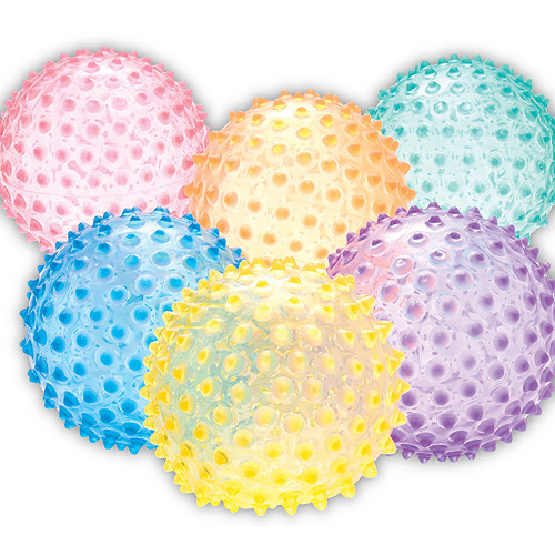 "Color My Class See Thru Knobby 8"" Ball"