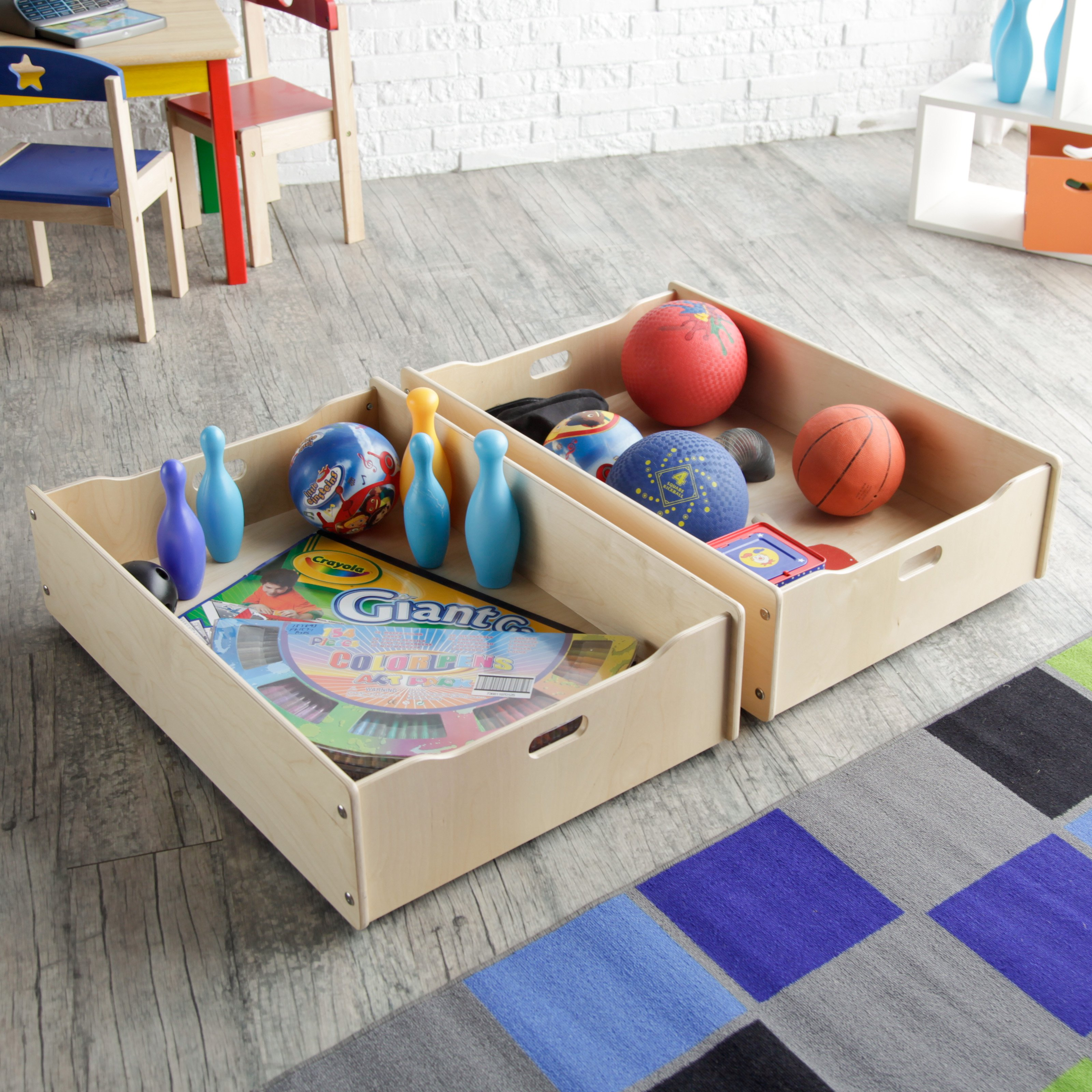 Little Colorado Storage Drawers for Play Table - Set of 2