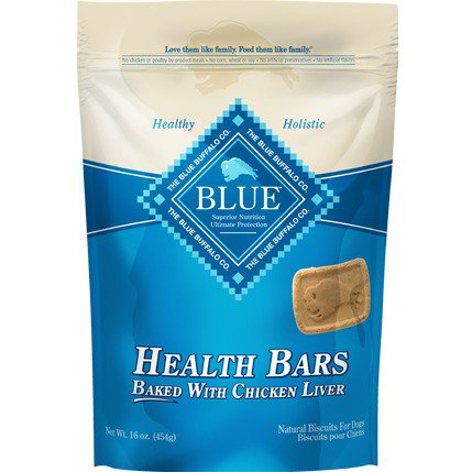 Blue Health Bars Baked with Chicken Liver Natural Biscuits for Dogs