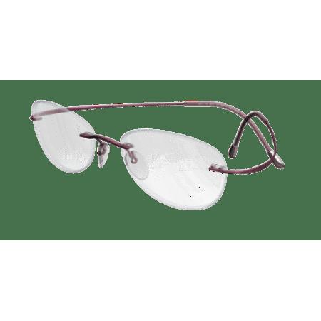e1a570f42f4 Silhouette Eyeglasses TMA Must Collection Chassis 5515 3540 Mauve Optical  Frame - Walmart.com