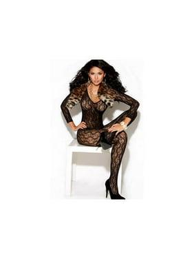 bb4a298e99 Product Image Elegant Moments Long Sleeve Lace Bodystocking 8503 Black