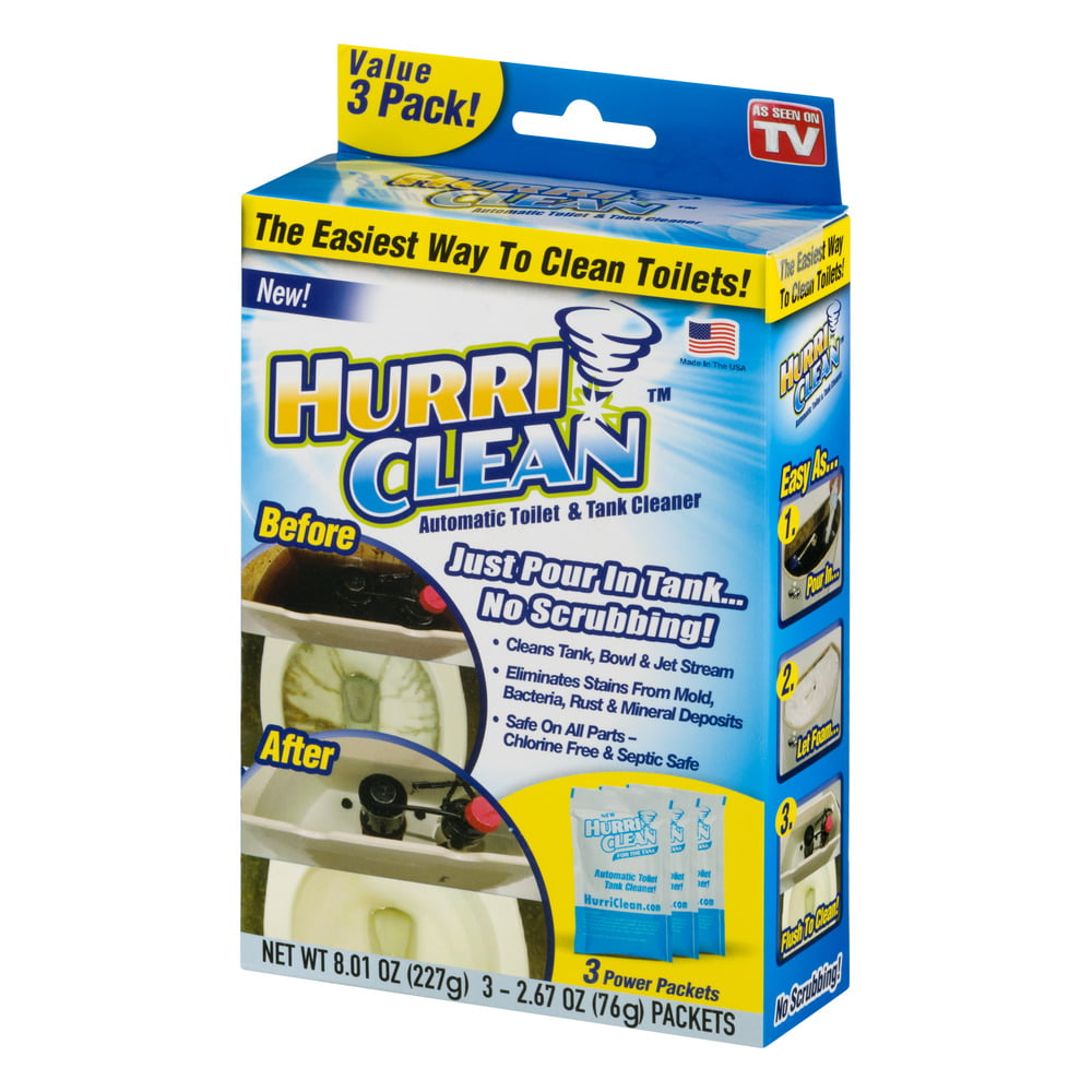 Hurri Clean Automatic Toilet & Tank Cleaner - 3 PK, 3.0 PACK ...