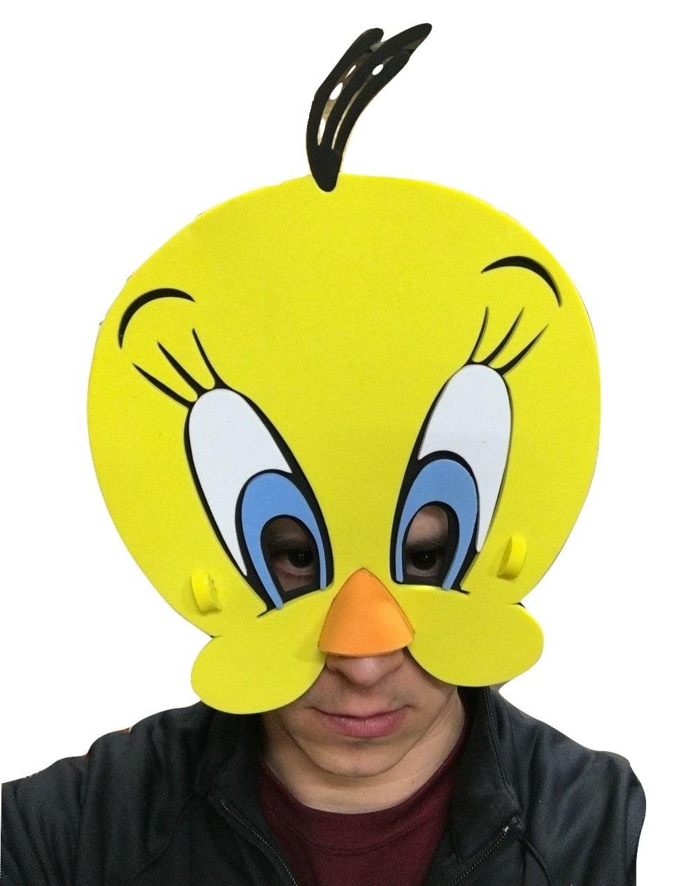 Tweety Bird EVA Foam Face Mask Looney Tunes Yellow Costume ...