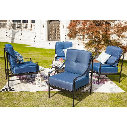 Alcott Hill Richard 5 Piece Multiple Chairs Seating Group with Cushions
