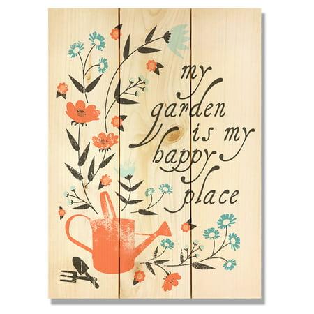 Daydream Happy Place Garden Art Indoor/Outdoor Wall Art (Daydreams Garden)