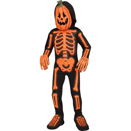 Pumpkin Jack (Skele Jack Boys Child Orange Black Skeleton Pumpkin)