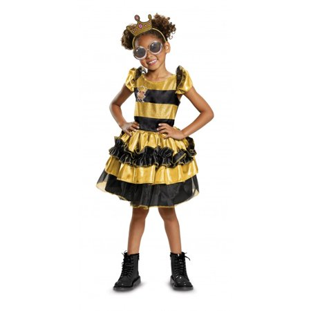 L.O.L Dolls Queen Bee Deluxe Child Halloween Costume - Rules For Halloween For Kids