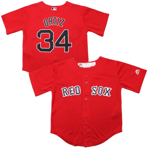 David Ortiz Boston Red Sox Majestic Toddler Official Cool Base Player Jersey - Red