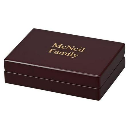 "WOOD PLAYING CARD BOX 6"" X 4.25"" X 1.5"""