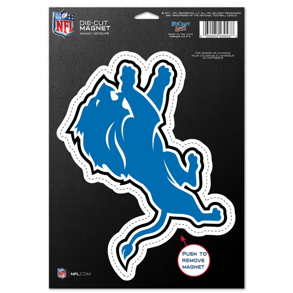 Detroit Lions Official NFL 6 inch x 9 inch  Car Magnet by Wincraft