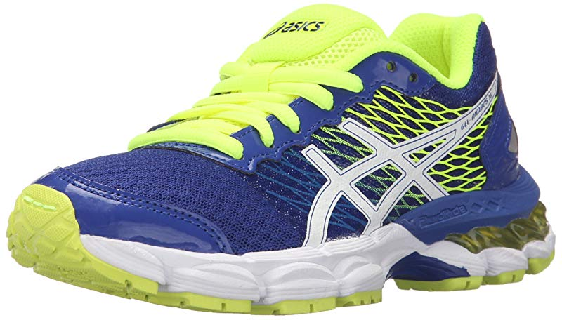 ASICS ASICS Girl's Gel Nimbus 18 GS Running Shoe, TurquoiseWhiteFlash Yellow, 6 M US Big Kid