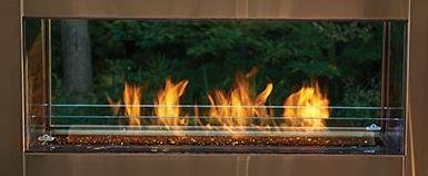 "Napoleon Galaxy GSS48ST SeeThru 55 000 BTU's Linear Outdoor Fireplace with ""Easy Start"" Electronic... by Napoleon"