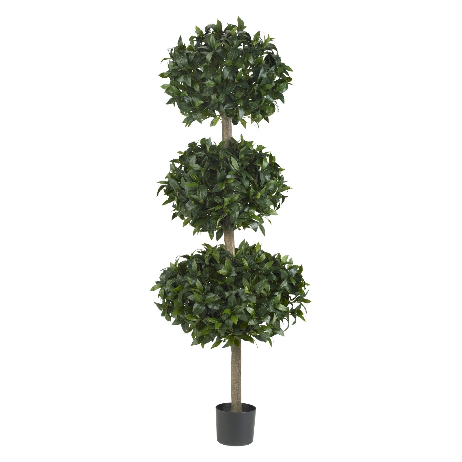 Nearly Natural Sweet Bay Triple Ball Topiary
