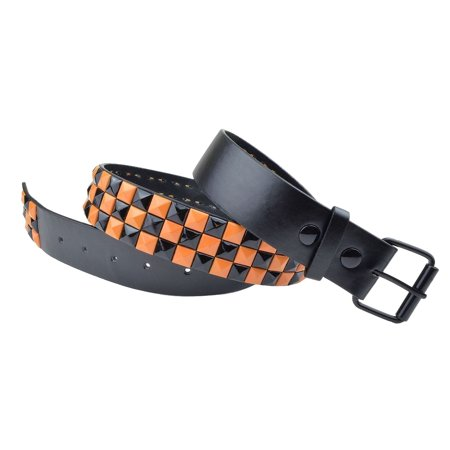 Dabung Leather Pyramid Studded Belt Strap Mens Womens Unisex Fashion Waistband - - Pyramid Stud Belt