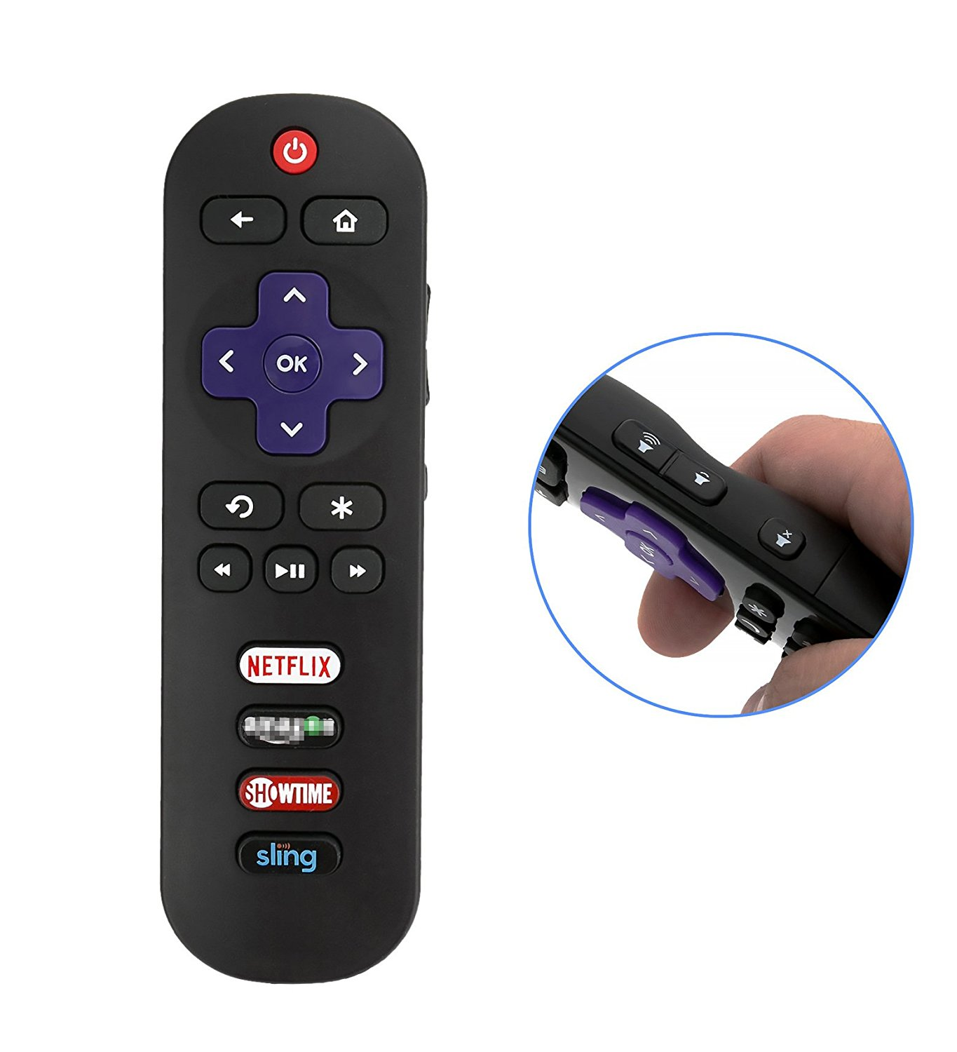 New Original Hisense EN3B32HS Roku TV Remote Control w/ Smart Channel Keys