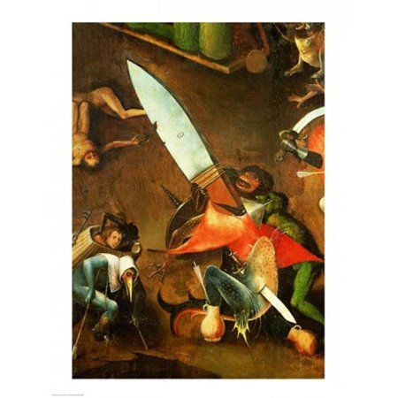 Posterazzi BALBAL41089 The Last Judgement Altarpiece Detail of the Dagger Poster Print by Hieronymus Bosch - 18 x 24 in. - image 1 of 1