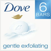 Dove Gentle Exfoliating Beauty Bar, 4 oz, 6 Bar