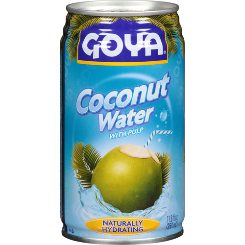 Goya Coconut Water with Pulp, 11.8 fl oz, (Pack of 24)