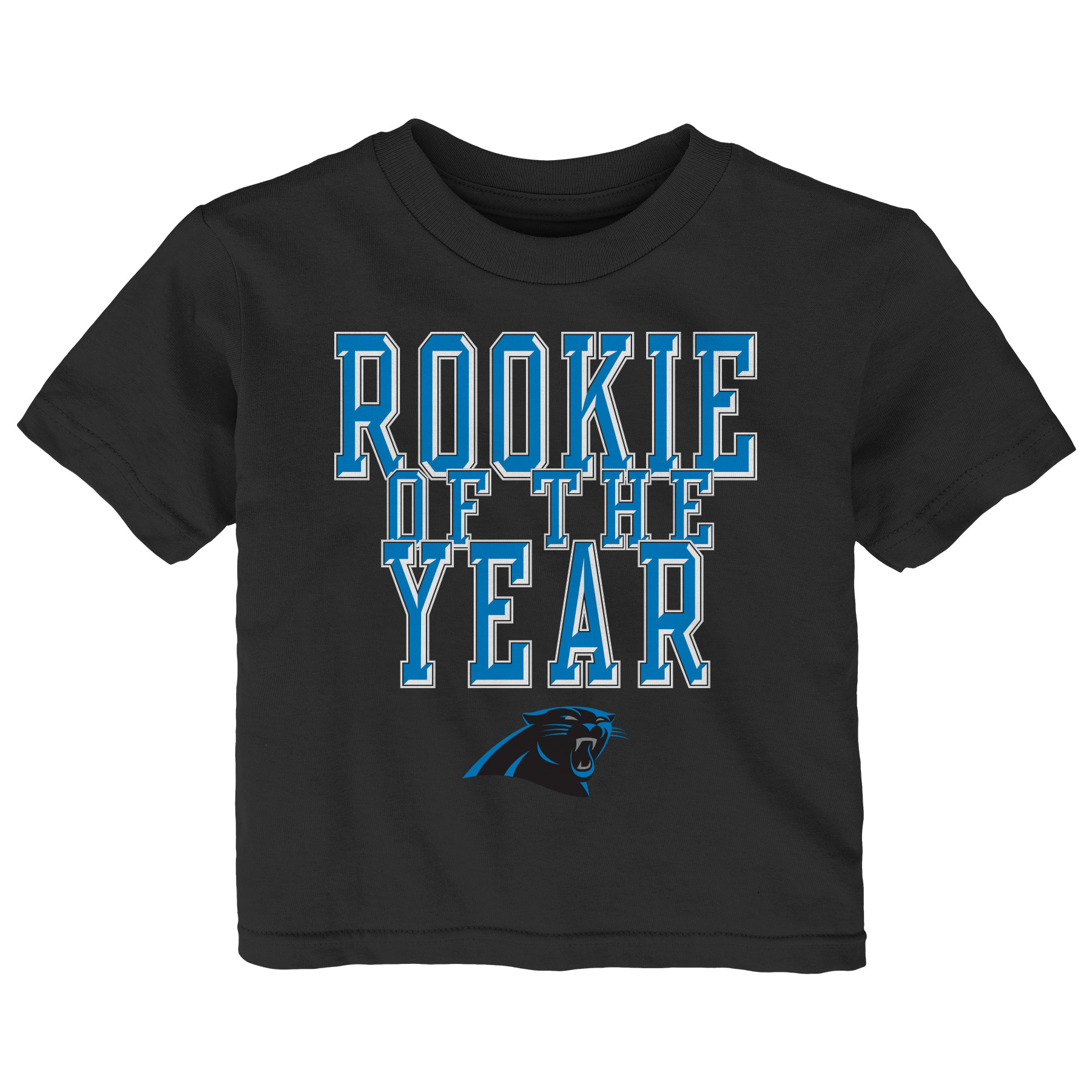 Carolina Panthers Toddler Rookie Of The Year T-Shirt - Black