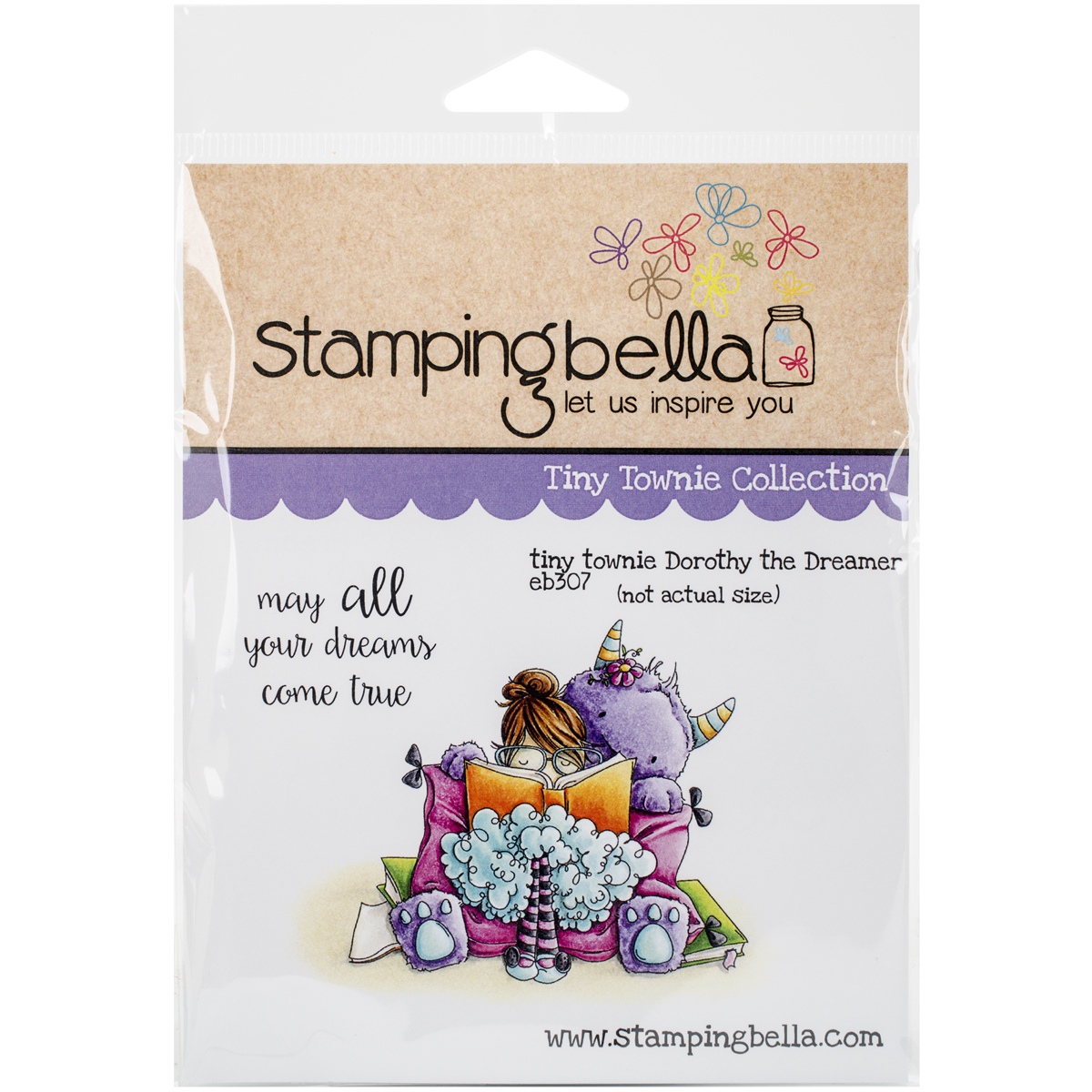 """Stamping Bella Cling Rubber Stamp, 6.5"""" x 4.5"""", Tiny Townie Dorothy The Dreamer"""