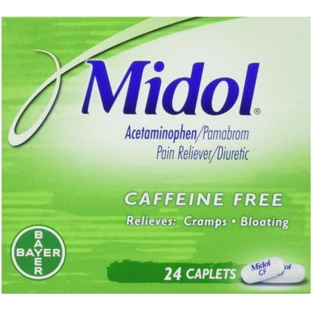 Midol caféine Caplets 24 ch (pack de 3)