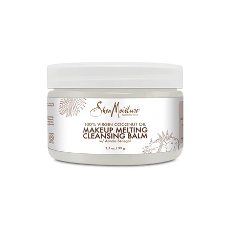 SheaMoisture Makeup Melting Cleansing Balm, 100% Virgin Coconut Oil, 3.5 oz