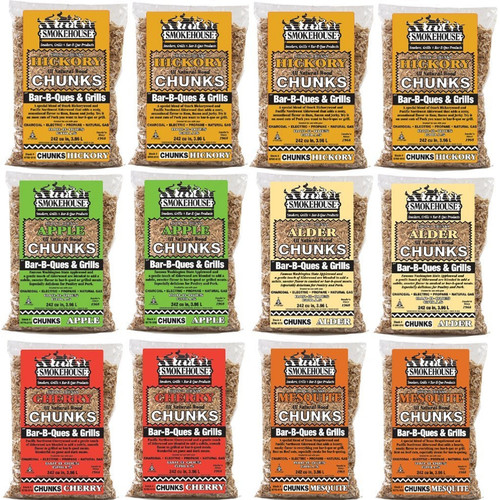Smokehouse Products All Natural Flavored Wood Chunks (12 Pack) (Set of 12)