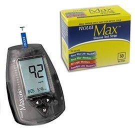 Nova Max Combo   1 Nova Max Meter And 1 Nova Max Test Strip Box Of 50