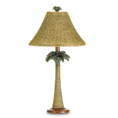 lamps table, Polyresin Rattan Palm Tree Decorative bedroom bedside table lamp ()